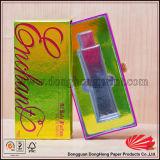 Glissement du cadre argenté brillant d'impression de carte pour des bouteilles de parfum