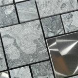内壁のためのよい価格の金カラーガラス混合された石造りのモザイク