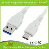 USB 3.1 het Mannetje van het Type C aan USB 3.0 een Mannelijke het Laden Kabel