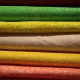 단화 (E6058)를 위한 다채로운 반짝임 PU 가죽
