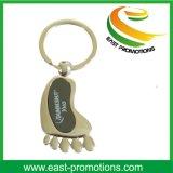 Cheap Alloy Enamel Cute Foot Design Metal Custom Key Chain