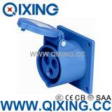 Водоустойчивый AC 220-240V 16A AMP гнезда штепсельной вилки IEC309-2 2p+E промышленный