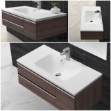 Kingkonreeの白い固体表面の流しの浴室の洗浄手洗面器