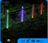 クリスマスツリーデザイン太陽光ファイバストリングライト