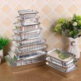 Feuille d'aluminium à usage unique pan prendre-out des récipients alimentaires avec les couvercles en aluminium/sans couvercle