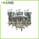 Caixa de filtro de saco industrial Ss 304 para sistema de filtração de água