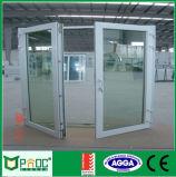 Double ouverture des portes à battants de pivotement avec rupture thermique Pnoc Profil0027cmd