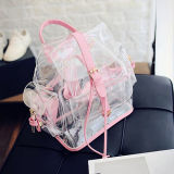Mais novo design Outdoor Teenagers Clear PVC Bag Bag Mochila Transparente Made in China Sy8407