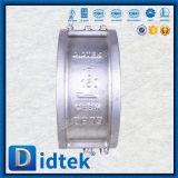 Clapet anti-retour de plaque de Didtek de disque duel d'acier inoxydable