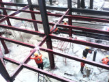 Полуфабрикат мастерская пользы стальной структуры промышленная с надземной подкрановой балкой