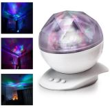 Rotation de cadeau Changement de couleur Projection Aurora LED Night Light