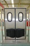 Puerta batiente de metal para congelador