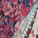 Tecido de seda com chiffon com impressão para vestido / tecido / T-Shirt