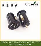 Fast Quick Mini Bullet Double USB Adaptateur de chargeur de voiture 2 ports