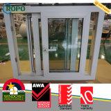 Impato do PVC - vidro laminado resistente Windows deslizante com rede de mosquito