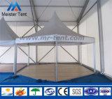 tente de pagoda de forme d'hexagone d'envergure de 6m pour 100 personnes
