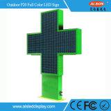 P20 LED de couleur unique en plein air Cross signer pour l'hôpital