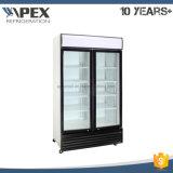 Supermarkt-Getränkebildschirmanzeige-Kühlvorrichtung mit der doppelten Glastür hergestellt in China