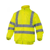 rivestimento riflettente di sicurezza di visibilità d'altezza gialla impermeabile di inverno