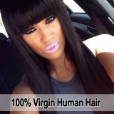 La peluca india recta sedosa del pelo humano de la Virgen/ata por completo la peluca/la peluca delantera del cordón