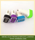 Portable Triple USB Carregador de carro Adaptador USB Cell Phone Car Charger com 5V 5.2A Saída para iPhone