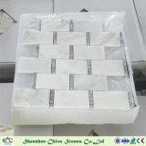 フロアーリングまたは壁カバーのための長方形の東洋の白い大理石のモザイク