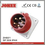 IP44 5p 32A Panel Mounted Industrial Plug