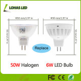 GU10 MR16 3W 5W 6W Dimmable LED 스포트라이트 60W 할로겐 전구 동등물