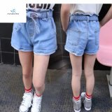 Shorts del denim della vita delle ragazze di modo di estate alti dai jeans della mosca