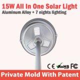 Potere verde LED solare IP65 chiaro di nuovo movimento di PIR per esterno