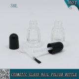 Kundenspezifische Glasflasche der Nagellack-Flaschen-5ml mit Nagellack-Schutzkappe und Pinsel