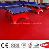 セリウムSGSが付いている卓球のバスケットボールコートのための赤い蛇行させたビニールの床PVCフロアーリングロール