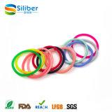 Band van het Haar van de Vrouw van de Armband van het Silicone van de Kleur van de regenboog de Elastische
