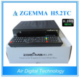 Bcm 73625 Zgemma H5.2tc Satellite Set Top Box DVB-S2 + 2X DVB-T2 / C H. 265 Récepteur IPTV