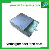 Rectángulo de regalo cosmético impreso insignia de encargo de la joyería de la cartulina