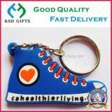 Personifiziertes Schuh-Art-preiswerte Förderung weiches Kurbelgehäuse-Belüftung Keychain
