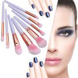 insieme di spazzola delle estetiche della perla 8PCS con i capelli di colore rosa della polvere