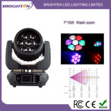 A luz principal movente a mais compata da lavagem do diodo emissor de luz 7*15W