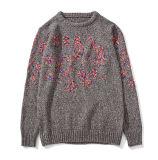 Горячим изготовленный на заказ свитер ткани кардигана заволакивания вышитый цветом связанный платья человека