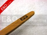 Toothbrush di bambù naturale del carbone di legna di 100% con il marchio caldo