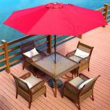 Im Freien Hof-Balkon-Freizeit-Tisch-und Stuhl-Kombination von drei Sets