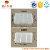 6つのコンパートメントによって整頓されているプラスチックの箱