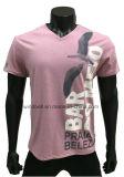 T-shirt da tela do Melange da cor para homens