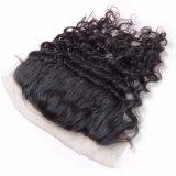 Frontal 13 '' человеческие волосы 100% x 4 '' шнурка перуанского цвета человеческих волос девственницы естественного Kinky курчавый
