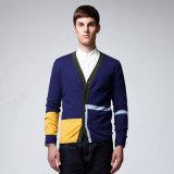 100%Cotton cardigan di lavoro a maglia degli uomini del collo di inverno V con il tasto