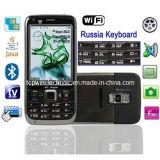 Mobiele Telefoon van TV Sims van de ster E73+ de Dubbele met Toetsenbord WiFi&Russian