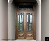 38-Inch X 5 portes extérieures externes en bois solide d'entrée principale de la première voûte 7/18-Inch