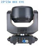19pcs 15W à LED de l'oeil de l'Abeille Moving Head Light B-K10 de l'oeil