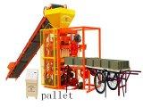 Semi-automatique machine à fabriquer des briques de ciment QTJ4-26solide (A)
