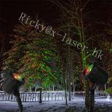 옥외 크리스마스 불빛 빨강은 정체되는 작풍 방수 레이저 광을 &Green